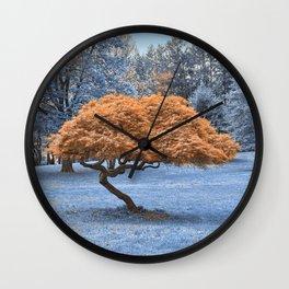 Winter Sapphire Sanctuary Wall Clock