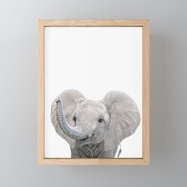 Elephant Calf Art Framed Mini Art Print