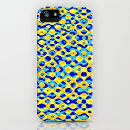 Brain Coral Dark Blue Banded Cross Small Polyps - Coral Reef Series 030 iPhone Case