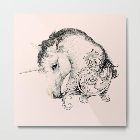 Classic Unicorn Metal Print