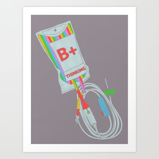 Be Positive Thinking Art Print