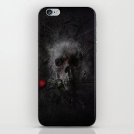 Skull with Rose iPhone Skin