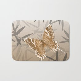 Beautiful Copper Butterfly Design Bath Mat