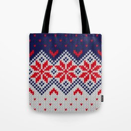 Winter knitted pattern 11 Tote Bag