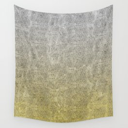 Silver and Gold Glitter Gradient Wall Tapestry