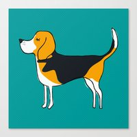 beagle Canvas Prints featuring Beagle by MaJoBV