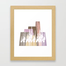 Pastel Mountains Framed Art Print