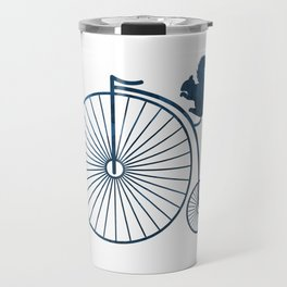 Squirrel on a high wheel Travel Mug