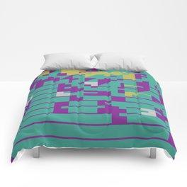 Abstract 8 Bit Art Comforters