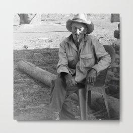 Cigar Smoker in Cuba Metal Print