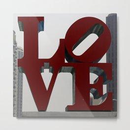 Love Philadelphia Sculpture Metal Print