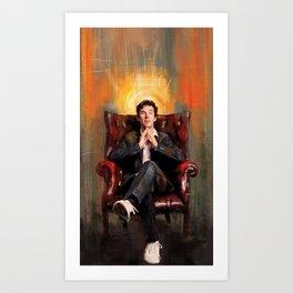 Sitting Benedict Art Print