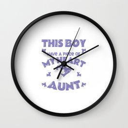 Epilepsy Awareness Aunt World Day Gift Wall Clock