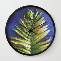 fern Wall Clocks featuring Fern by Olivia Joy St.Claire - Modern Nature / T
