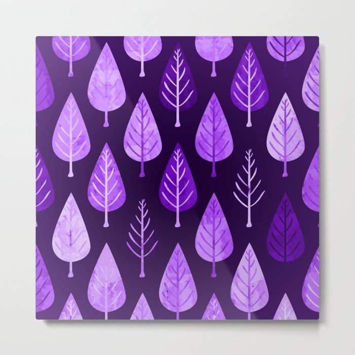 Leaf pattern II Metal Print