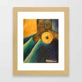 The Trumpet Player Framed Art Print