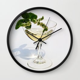 Peppermint Martini Wall Clock