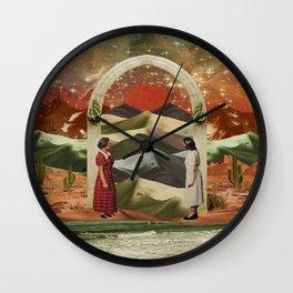 Magic door to the infinite deserts Wall Clock