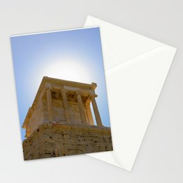 The Temple of Athena on the Acropolis Hill in Athens, Greece Stationery Cards