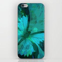 Butterfly Blue iPhone Skin