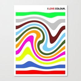 I Love Colour Canvas Print