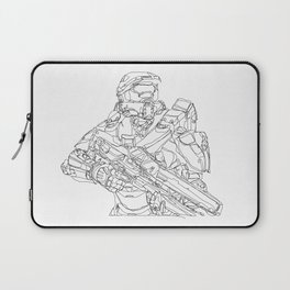 HALO Master Chief continuous line Laptop Sleeve