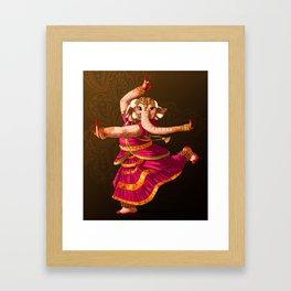Indian elephant dancing Framed Art Print