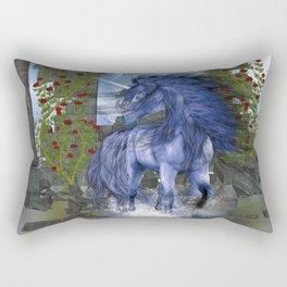 Blue Unicorn 2 Rectangular Pillow