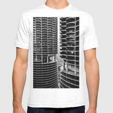 Bertrand's Buildings MEDIUM White Mens Fitted Tee