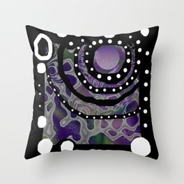 Cailloux blancs Throw Pillow