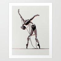 dancer Art Prints featuring Dancer by Señor Salme