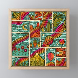 Traveling Rainbow Framed Mini Art Print