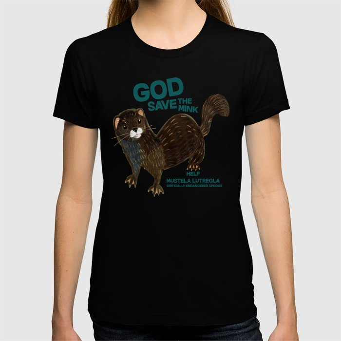 God save the Mink (FIEB) Pink T-shirt