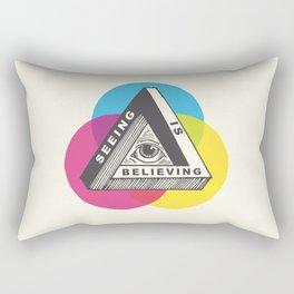 Seeing is Believing Rectangular Pillow