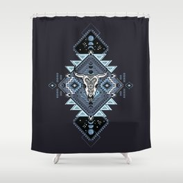 Vintage ethnic geometric hand drawn illustration Shower Curtain