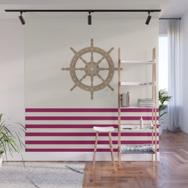 AFE Gold Nautical Helm Wheel Wall Mural