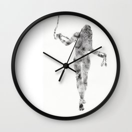 Feminine figure with rope Wall Clock