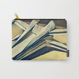 Paper Fold - Cold tones Carry-All Pouch