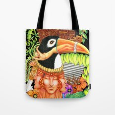 Toucan Fantasy Art Design Tote Bag