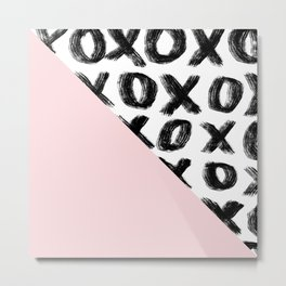 two triangles - blush and xo Metal Print