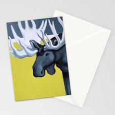 Minimalist Moose Stationery Cards