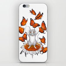 Mouse Butterflies iPhone & iPod Skin