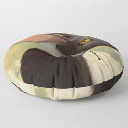 Melancholic rabbit Floor Pillow