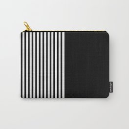 White Stripes Carry-All Pouch