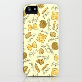 Know Your Pasta iPhone Case