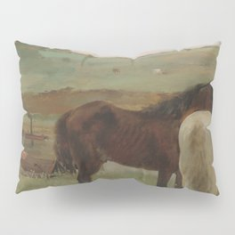 Horses in a Meadow Pillow Sham