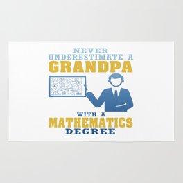 Mathematics Degree Grandpa Rug