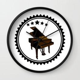 Vintage Piano Keyboard Music Player Wall Clock