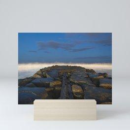 Cloudy Horizon Mini Art Print