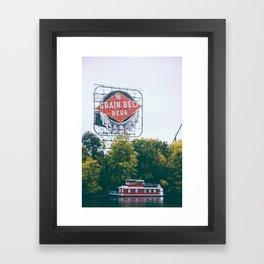 Minneapolis Grain Belt Framed Art Print